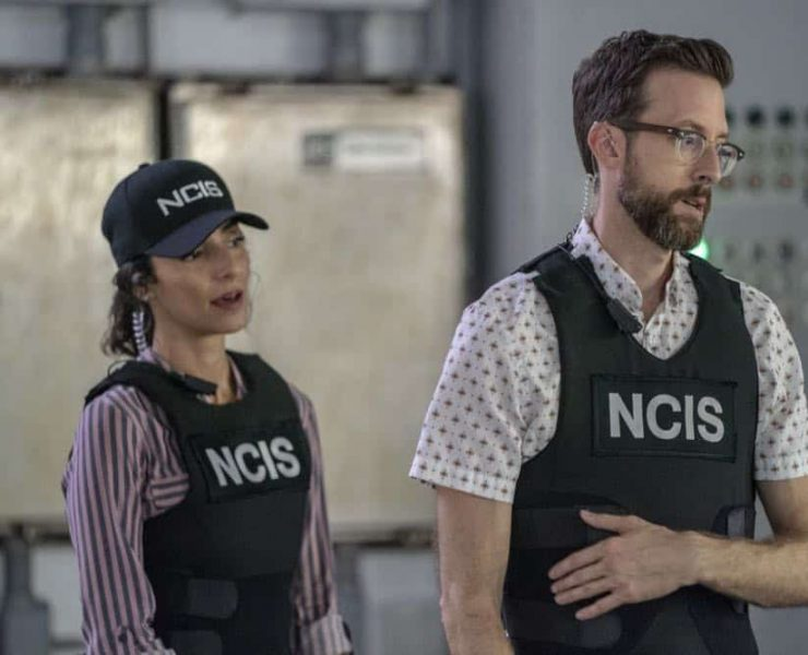 """Legacy"" -- After a petty officer is found murdered under a shrimping boat, the NCIS investigation uncovers a conspiracy in the tight-knit local fishing community. Also, Lasalle awaits the final results of the tax fraud investigation into his familyÕs company, on NCIS: NEW ORLEANS, Tuesday, Oct. 16 (10:00-11:00 PM, ET/PT) on the CBS Television Network. Pictured L-R: Necar Zadegan as Special Agent Hannah Khoury and Rob Kerkovich as Forensic Scientist Sebastian Lund Photo: Skip Bolen/CBS ©2018 CBS Broadcasting, Inc. All Rights Reserved"