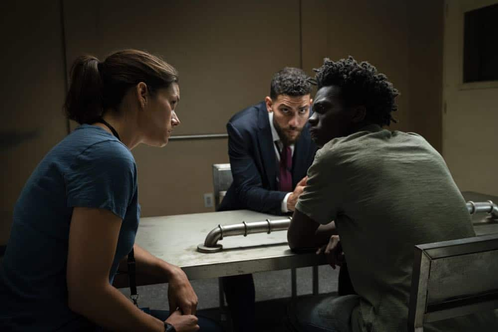 """Crossfire"" Special Agents Maggie Bell and OA Zidan rush to track down an active sniper with an elusive motive as the body count continues to rise, on FBI, Tuesday, Oct. 16 (9:00-10:00 PM, ET/PT) on the CBS Television Network. Pictured: Missy Peregrym, Zeeko Zaki, Tim Johnson Jr. Photo: Michael Parmelee/CBS ©2018 CBS Broadcasting, Inc. All Rights Reserved"