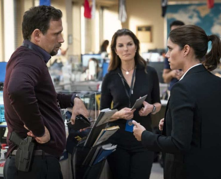 ÒCrossfireÓ Ð Special Agents Maggie Bell and OA Zidan rush to track down an active sniper with an elusive motive as the body count continues to rise, on FBI, Tuesday, Oct. 16 (9:00-10:00 PM, ET/PT) on the CBS Television Network. Pictured: Jeremy Sisto, Sela Ward, Missy Peregrym. Photo: Michael Parmelee/CBS ©2018 CBS Broadcasting, Inc. All Rights Reserved