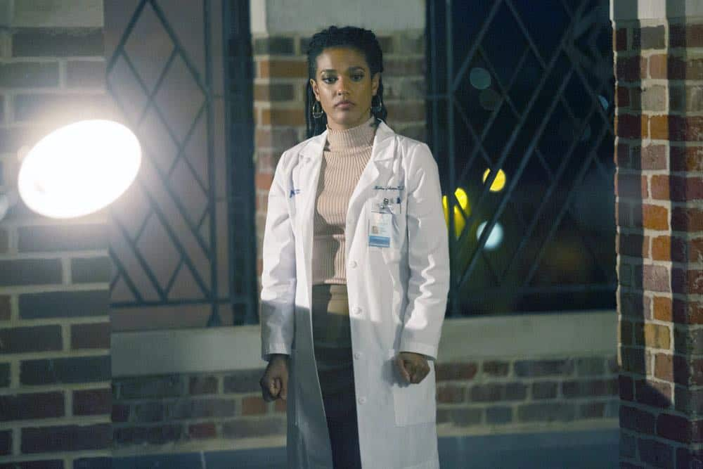 "NEW AMSTERDAM -- ""Boundaries"" Episode 104 -- Pictured: Freema Agyeman as Dr. Helen Sharpe -- (Photo by: Francisco Roman/NBC)"
