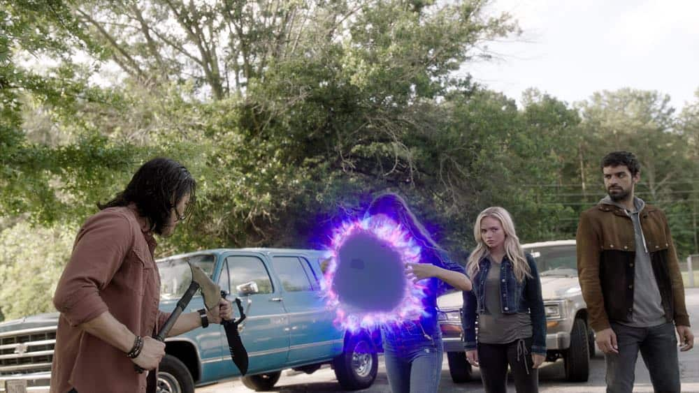 """THE GIFTED: L-R: Blair Redford, Jamie Chung, Natalie Alyn Lind and Sean Teale in the """"outMatched"""" episode of THE GIFTED airing Tuesday, Oct. 16 (8:00-9:00 PM ET/PT) on FOX. ©2018 Fox Broadcasting Co. Cr: FOX."""