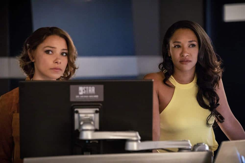 "The Flash -- ""Blocked"" -- Image Number: FLA502a_0267b2.jpg -- Pictured (L-R): Jessica Parker Kennedy as Nora West - Allen and Candice Patton as Iris West - Allen -- Photo: Jack Rowand/The CW -- © 2018 The CW Network, LLC. All rights reserved"