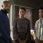 "Black Lightning -- ""The Book Of Consequences: Chapter Two: Black Jesus Blues"" -- Image BLK202a_0106b.jpg -- Pictured (L-R): Cress Williams as Jefferson, Christine Adams as Lynn and Myles Truitt as Issa -- Photo: Annette Brown/The CW -- © 2018 The CW Network, LLC. All rights reserved"