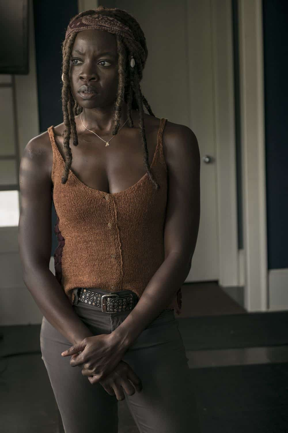 Danai Gurira as Michonne - The Walking Dead _ Season 9, Episode 3 - Photo Credit: Gene Page/AMC