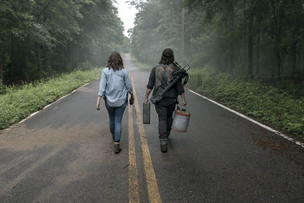 Norman Reedus as Daryl Dixon, Lauren Cohan as Maggie Rhee - The Walking Dead _ Season 9, Episode 3 - Photo Credit: Gene Page/AMC