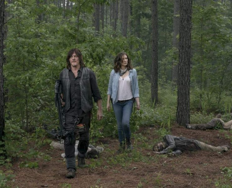 Lauren Cohan as Maggie Rhee, Norman Reedus as Daryl Dixon- The Walking Dead _ Season 9, Episode 3 - Photo Credit: Gene Page/AMC