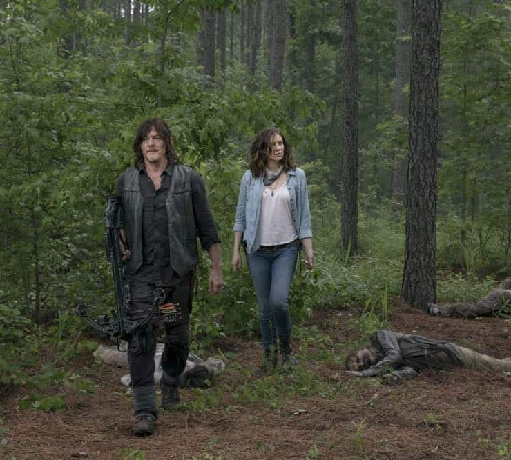Lauren Cohan as Maggie Rhee, Norman Reedus as Daryl Dixon - The Walking Dead _ Season 9, Episode 3 - Photo Credit: Gene Page/AMC
