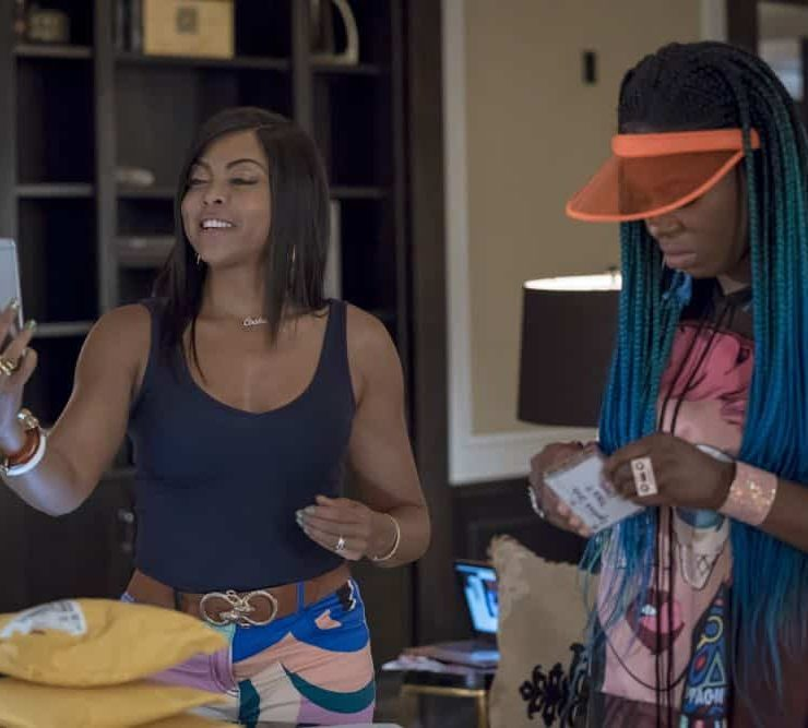"EMPIRE: L-R: Taraji P. Henson and Ta'Rhonda Jones in the ""Love All, Trust A Few"" episode of EMPIRE airing Wednesday, Oct. 17 (8:00-9:00 PM ET/PT) on FOX. @2018 Fox Broadcasting Co. CR: Chuck Hodes/FOX."