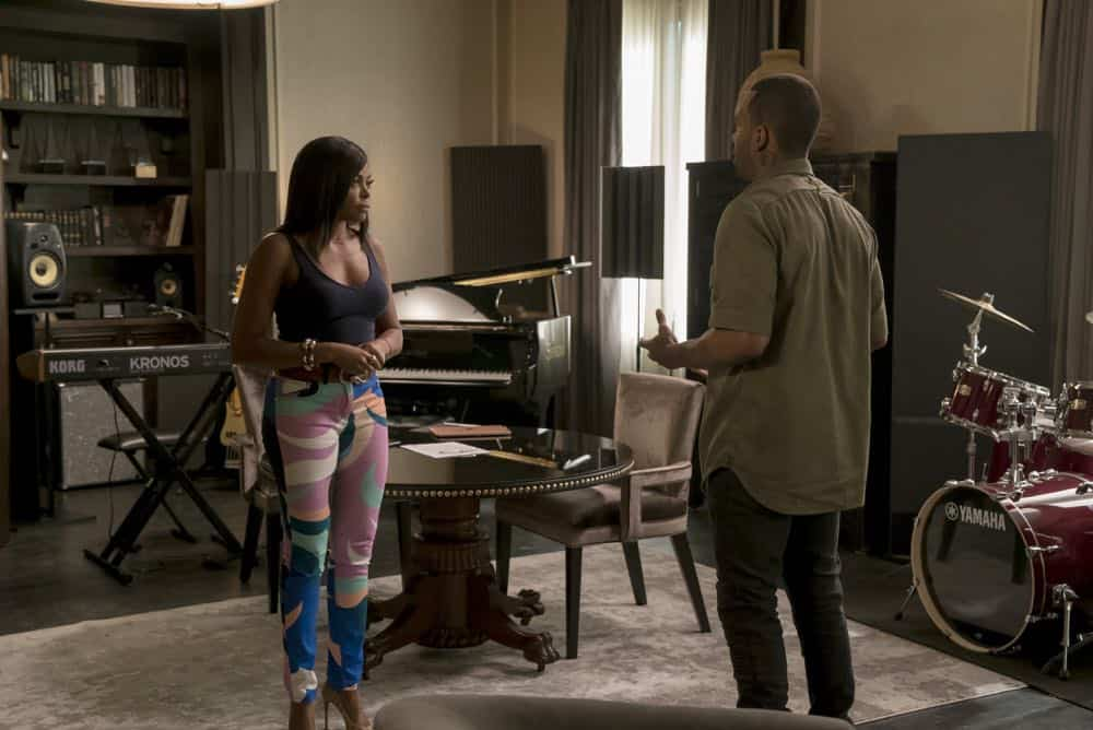 """EMPIRE: L-R: Taraji P. Henson and guest star Mario in the """"Love All, Trust A Few"""" episode of EMPIRE airing Wednesday, Oct. 17 (8:00-9:00 PM ET/PT) on FOX. @2018 Fox Broadcasting Co. CR: Chuck Hodes/FOX."""