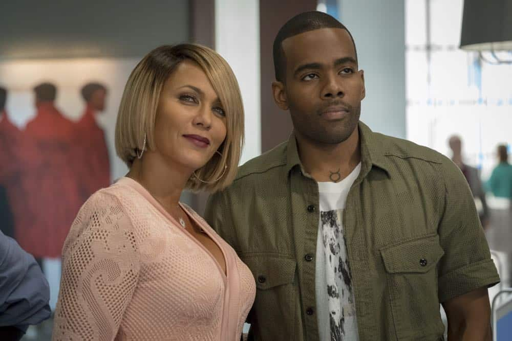 "EMPIRE: L-R: Nicole Ari Parker and guest star Mario Barrett in the ""Love All, Trust A Few"" episode of EMPIRE airing Wednesday, Oct. 17 (8:00-9:00 PM ET/PT) on FOX. @2018 Fox Broadcasting Co. CR: Chuck Hodes/FOX."