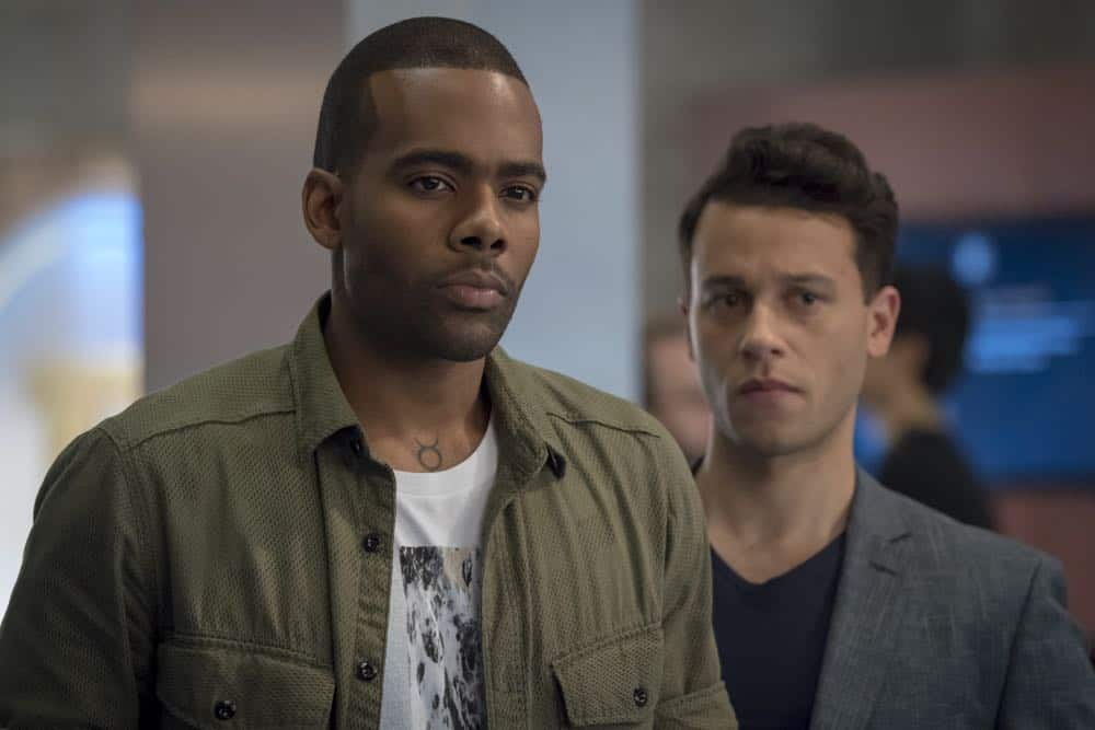 """EMPIRE: L-R: Guest star Mario Barrett and A.Z. Kelsey in the """"Love All, Trust A Few"""" episode of EMPIRE airing Wednesday, Oct. 17 (8:00-9:00 PM ET/PT) on FOX. @2018 Fox Broadcasting Co. CR: Chuck Hodes/FOX."""