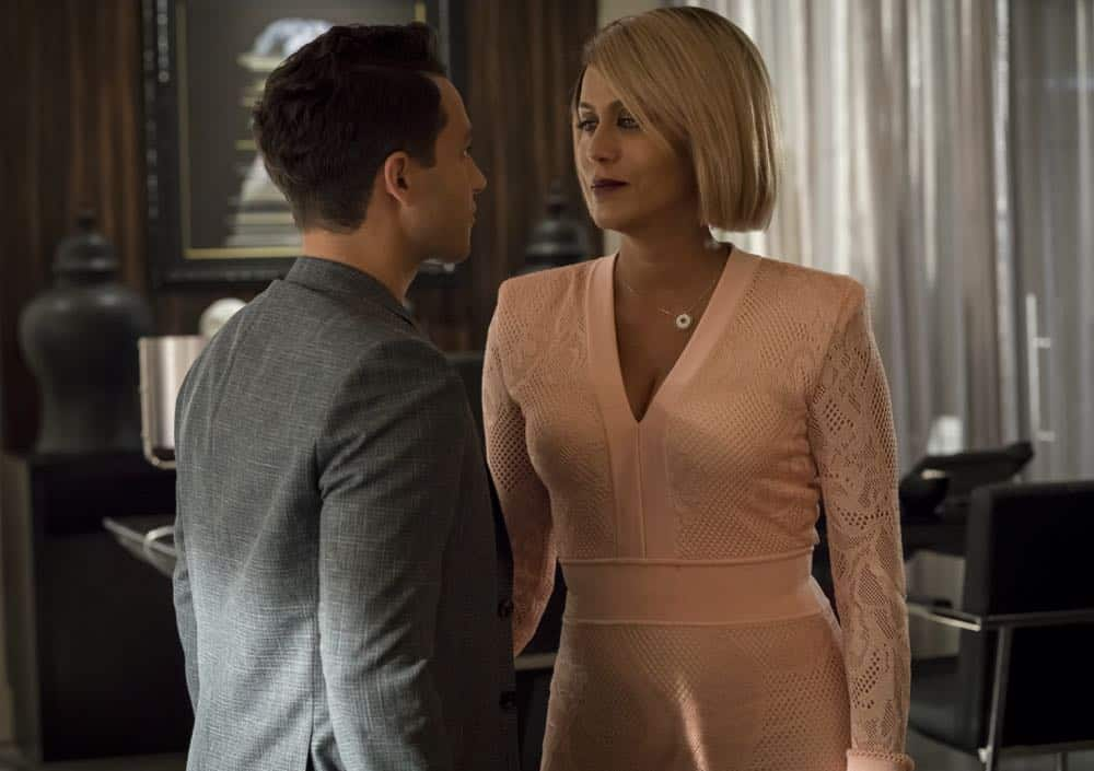 """EMPIRE: L-R: A.Z. Kelsey and Nicole Ari Parker in the """"Love All, Trust A Few"""" episode of EMPIRE airing Wednesday, Oct. 17 (8:00-9:00 PM ET/PT) on FOX. @2018 Fox Broadcasting Co. CR: Chuck Hodes/FOX."""