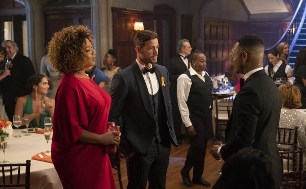 "STAR: L-R: Queen Latfiah, William Levy and guest star Terrence Jenkins in the ""All Falls Down"" episode of STAR airing Wednesday, Oct. 17 (9:00-10:00 PM ET/PT) on FOX. ©2018 Fox Broadcasting Co. CR: Wilford Harewood/FOX"