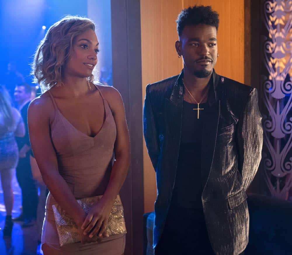 "STAR: L-R: Guest star Lauren Lyndie Greenwood and Luke James in the ""All Falls Down"" episode of STAR airing Wednesday, Oct. 17 (9:00-10:00 PM ET/PT) on FOX. ©2018 Fox Broadcasting Co. CR: Wilford Harewood/FOX"