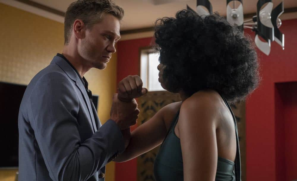 "STAR: L-R: Chad Michael Murray and Brandy Norwood in the ""All Falls Down"" episode of STAR airing Wednesday, Oct. 17 (9:00-10:00 PM ET/PT) on FOX. ©2018 Fox Broadcasting Co. CR: Wilford Harewood/FOX"