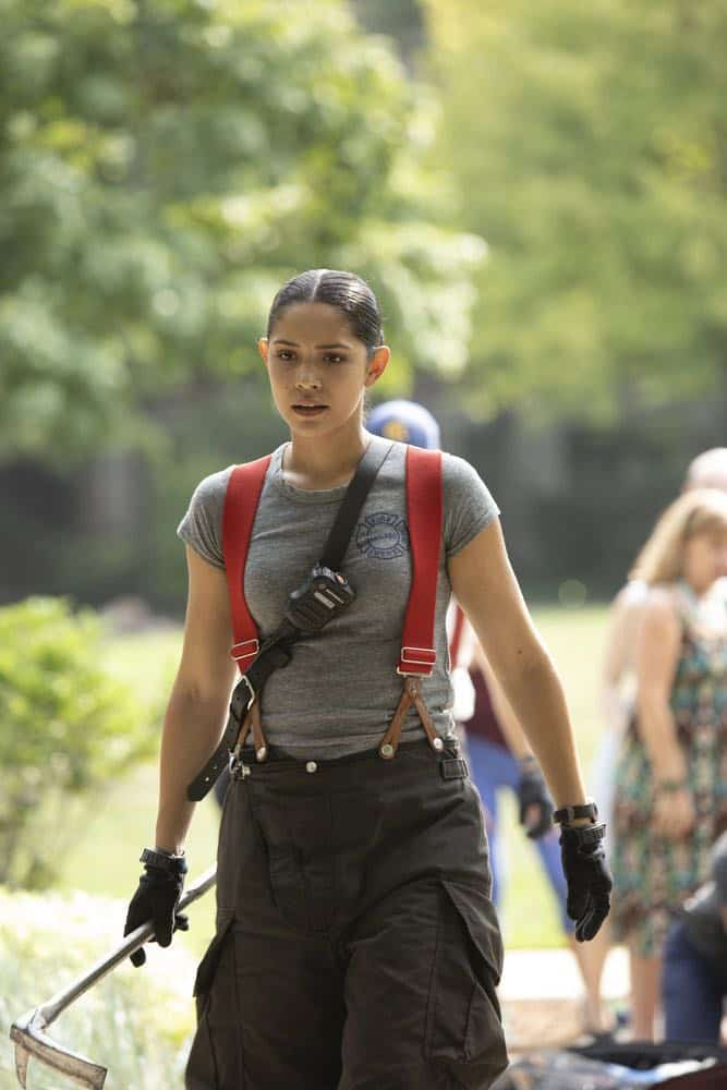 "CHICAGO FIRE -- ""This Isn't Charity"" Episode 704 -- Pictured: Miranda Rae Mayo as Stella Kidd -- (Photo by: Adrian Burrows/NBC)"