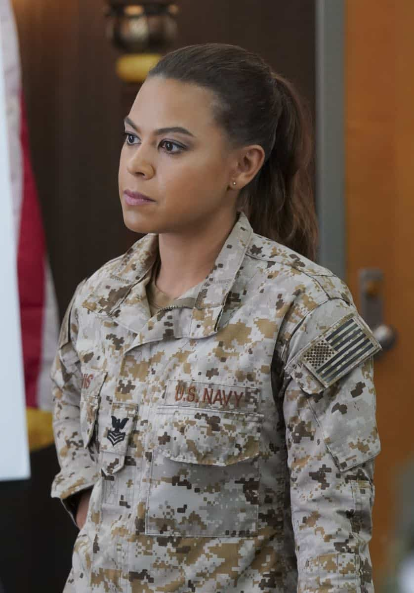 """The Worst of Conditions"" After tragedy strikes, Jason is faced with a huge decision regarding his future with Bravo Team, on SEAL TEAM, Wednesday, Oct. 17 (9:00-10:00 PM, ET/PT) on the CBS Television Network. Pictured: Toni Trucks as Lisa Davis. Photo: MontyBrinton/CBS ©2018 CBS Broadcasting, Inc. All Rights Reserved"