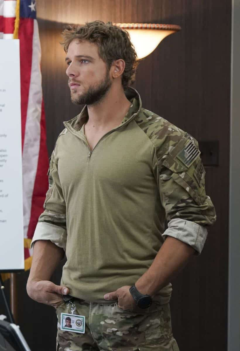 """The Worst of Conditions"" After tragedy strikes, Jason is faced with a huge decision regarding his future with Bravo Team, on SEAL TEAM, Wednesday, Oct. 17 (9:00-10:00 PM, ET/PT) on the CBS Television Network. Pictured: Max Thieriot as Clay Spenser. Photo: MontyBrinton/CBS ©2018 CBS Broadcasting, Inc. All Rights Reserved"
