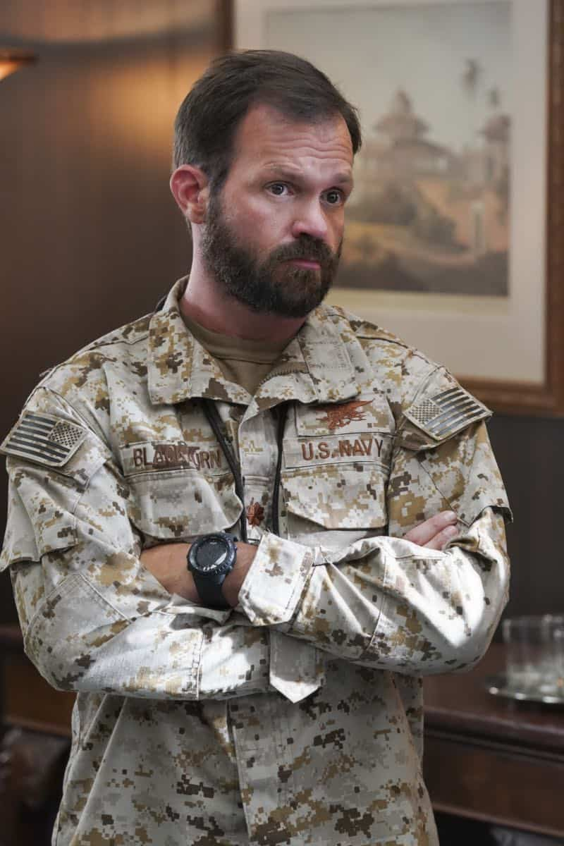 """The Worst of Conditions"" After tragedy strikes, Jason is faced with a huge decision regarding his future with Bravo Team, on SEAL TEAM, Wednesday, Oct. 17 (9:00-10:00 PM, ET/PT) on the CBS Television Network. Pictured: Judd Lormand Lieutenant Commander Eric Blackburn. Photo: MontyBrinton/CBS ©2018 CBS Broadcasting, Inc. All Rights Reserved"
