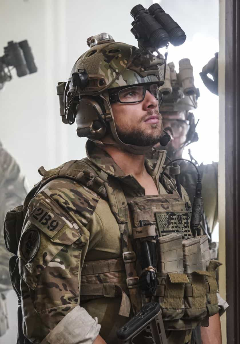 """The Worst of Conditions"" -- After tragedy strikes, Jason is faced with a huge decision regarding his future with Bravo Team, on SEAL TEAM, Wednesday, Oct. 17 (9:00-10:00 PM, ET/PT) on the CBS Television Network. Pictured: Max Thieriot as Clay Spenser. Photo: MontyBrinton/CBS ©2018 CBS Broadcasting, Inc. All Rights Reserved"