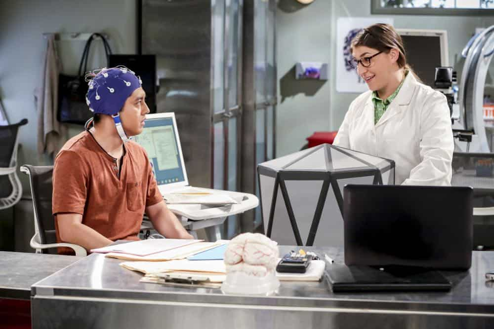 """The Planetarium Collision"" -- Pictured: Amy Farrah Fowler (Mayim Bialik). When Amy doesn't have time to work on super-asymmetry, Sheldon goes to great lengths to ensure she's available to work with him even it if means accidentally sabotaging her career in the process. Also, Koothrappali doesn't want Wolowitz to join him in hosting a show at the planetarium, on THE BIG BANG THEORY, Thursday, Oct. 18 (8:00-8:31 PM, ET/PT) on the CBS Television Network. Emmy Award winner Bob Newhart returns as Arthur Jeffries. Photo: Michael Yarish/Warner Bros. Entertainment Inc. © 2018 WBEI. All rights reserved."