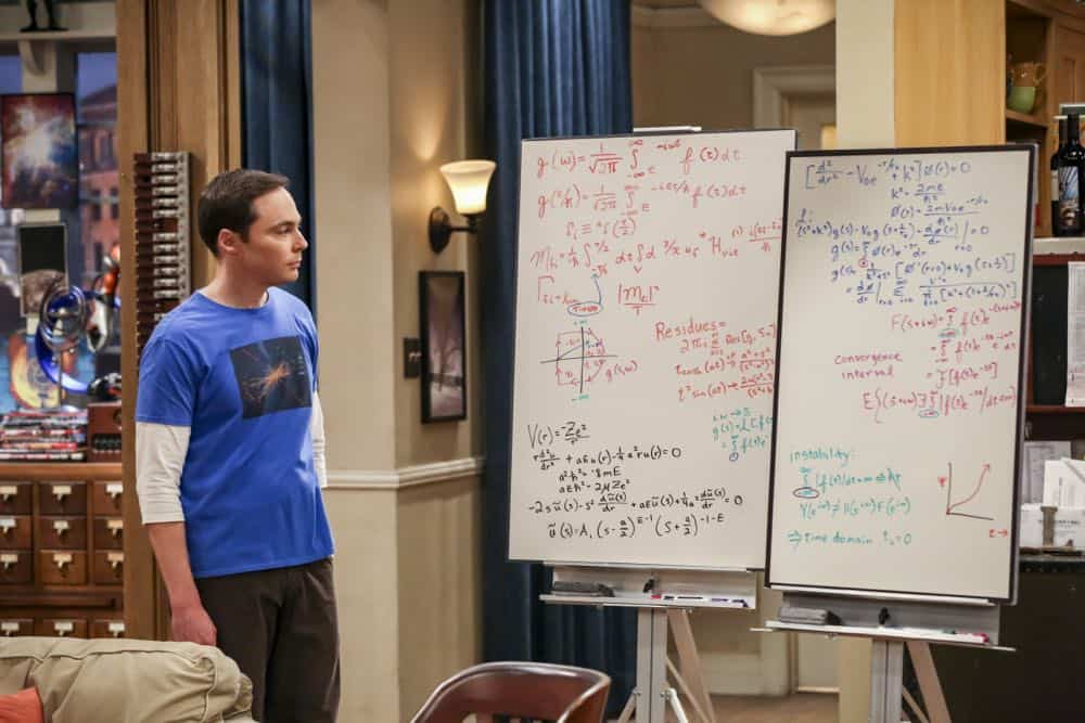 """The Planetarium Collision"" -- Pictured: Sheldon Cooper (Jim Parsons). When Amy doesn't have time to work on super-asymmetry, Sheldon goes to great lengths to ensure she's available to work with him even it if means accidentally sabotaging her career in the process. Also, Koothrappali doesn't want Wolowitz to join him in hosting a show at the planetarium, on THE BIG BANG THEORY, Thursday, Oct. 18 (8:00-8:31 PM, ET/PT) on the CBS Television Network. Emmy Award winner Bob Newhart returns as Arthur Jeffries. Photo: Michael Yarish/Warner Bros. Entertainment Inc. © 2018 WBEI. All rights reserved."