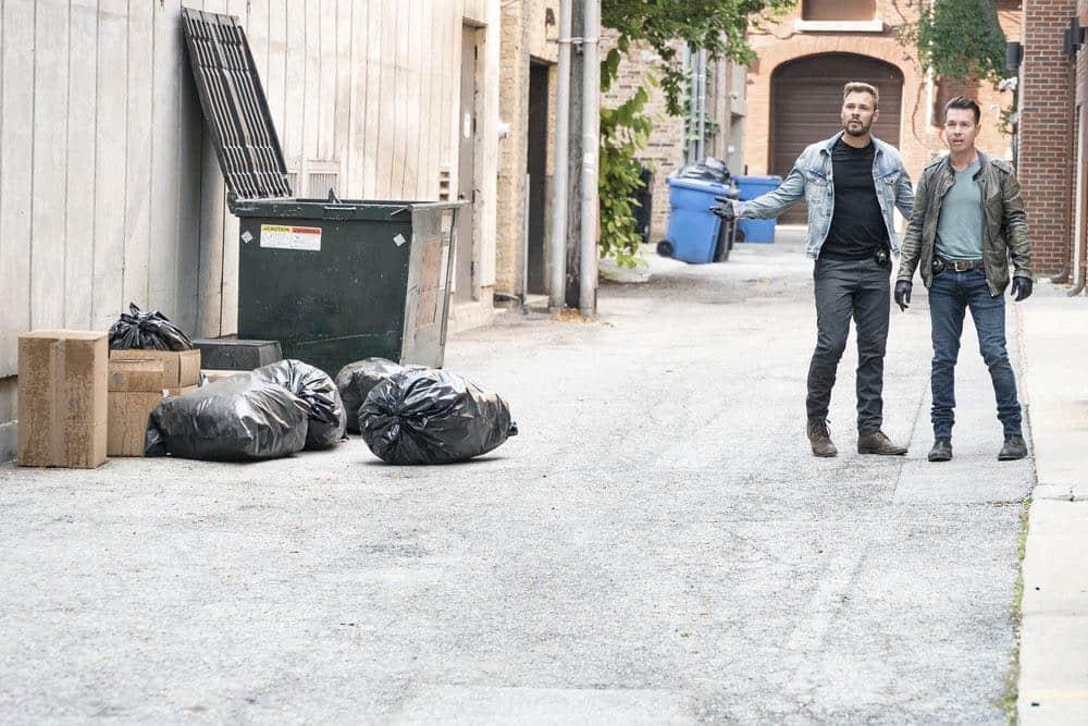 "CHICAGO P.D. -- ""Ride Along"" Episode 604 -- Pictured: (l-r) Patrick John Flueger as Adam Ruzek, Jon Seda as Antonio Dawson -- (Photo by: Matt Dinerstein/NBC)"