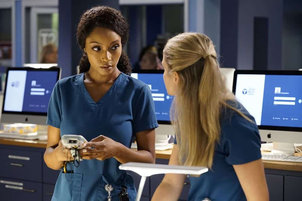 "CHICAGO MED -- ""Backed Against The Wall"" Episode 404 -- Pictured: Yaya DaCosta as April Sexton -- (Photo by: Elizabeth Sisson/NBC)"