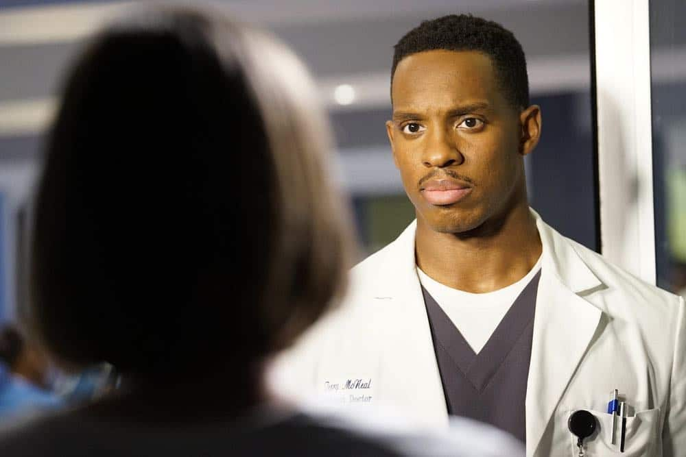 "CHICAGO MED -- ""Backed Against The Wall"" Episode 404 -- Pictured: Colby Lewis as Terry McNeal -- (Photo by: Elizabeth Sisson/NBC)"