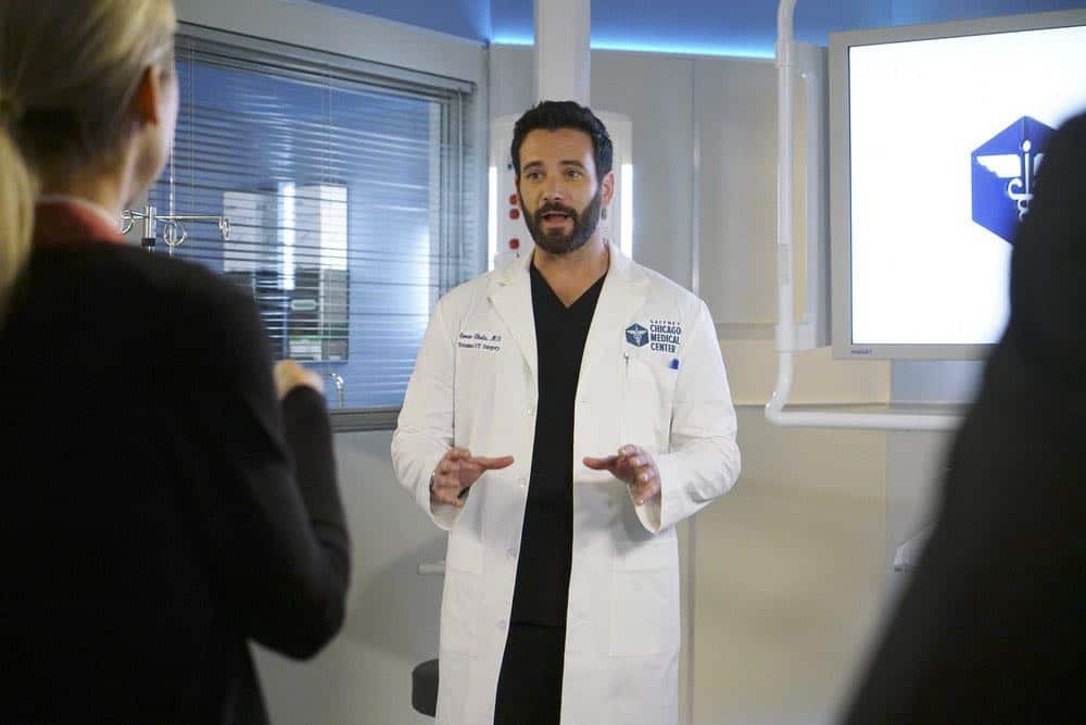 "CHICAGO MED -- ""Backed Against The Wall"" Episode 404 -- Pictured: Colin Donnell as Connor Rhodes -- (Photo by: Elizabeth Sisson/NBC)"