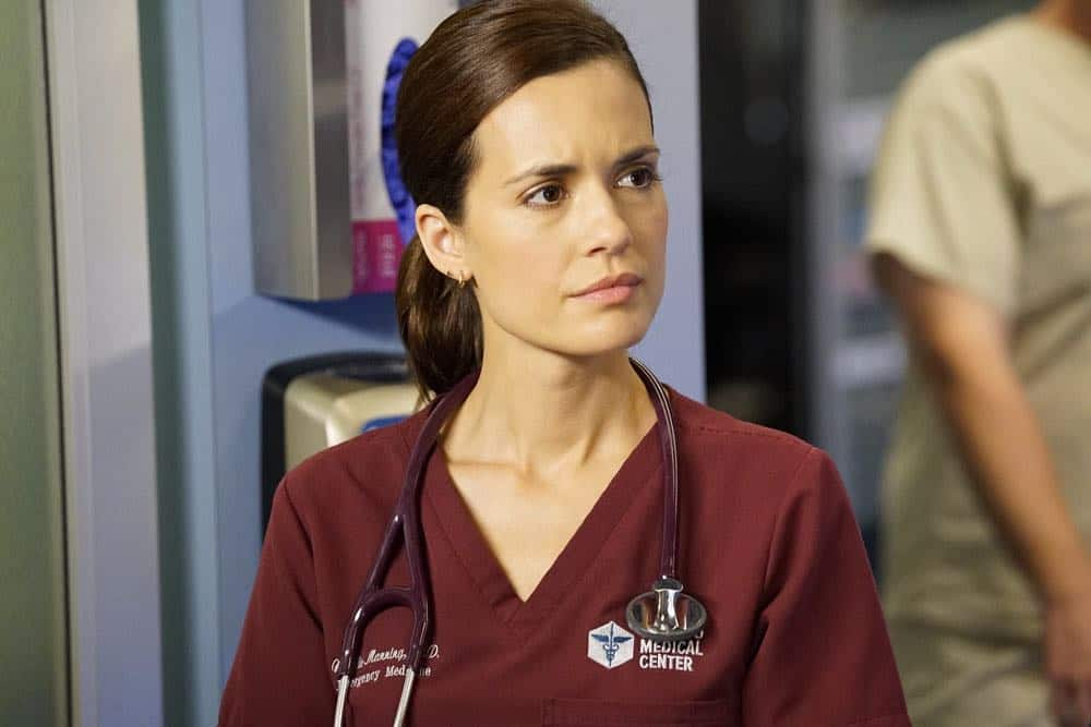 "CHICAGO MED -- ""Backed Against The Wall"" Episode 404 -- Pictured: Torrey DeVitto as Natalie Manning -- (Photo by: Elizabeth Sisson/NBC)"