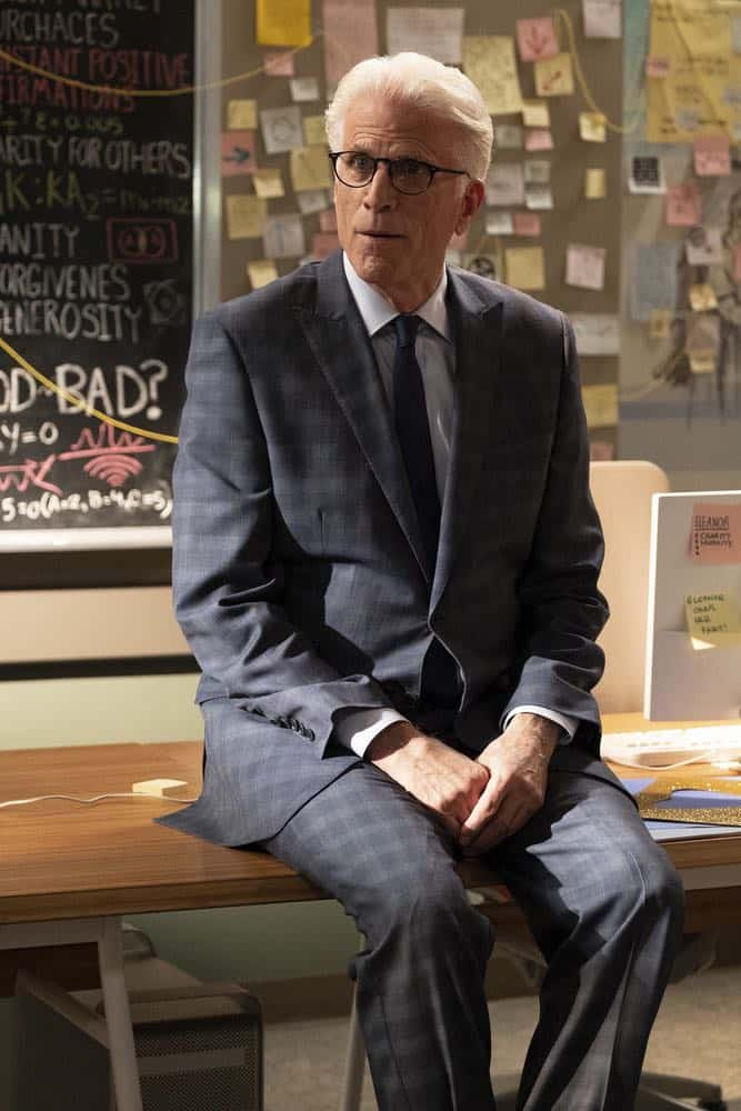 "THE GOOD PLACE -- ""Jeremy Bearimy"" Episode 305 -- Pictured: Ted Danson as Michael -- (Photo by: Colleen Hayes/NBC)"