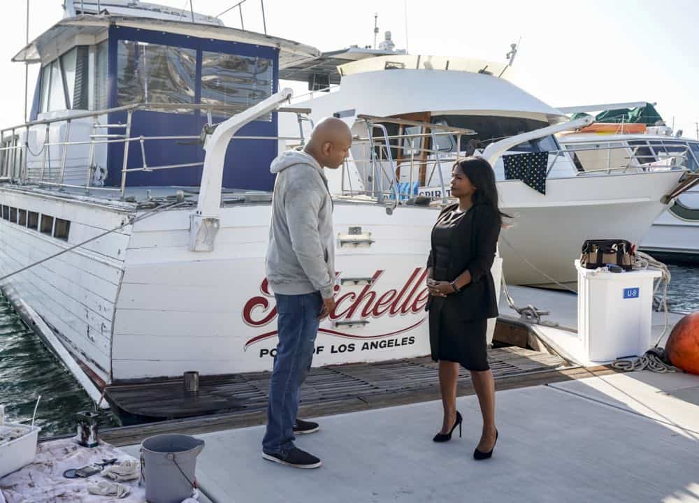 """Hit List"" -- Pictured: LL COOL J (Special Agent Sam Hanna) and Nia Long (Executive Assistant Director Shay Mosley). The NCIS team is in danger after their pictures, as well as Mosley and her son's names, are included on a cartel hit list. Also, NCIS Deputy Director Louis Ochoa (Esai Morales) arrives with Special Prosecutor John Rogers (Peter Jacobson) to interview Mosley about the off-the-books mission in Mexico, on NCIS: LOS ANGELES, Sunday, Oct. 21 (9:30-10:30 PM, ET/9:00-10:00 PM, PT) on the CBS Television Network. Gerald McRaney guest stars as Retired Navy Admiral Hollace Kilbride. Photo: Sonja Flemming/CBS ©2018 CBS Broadcasting, Inc. All Rights Reserved."