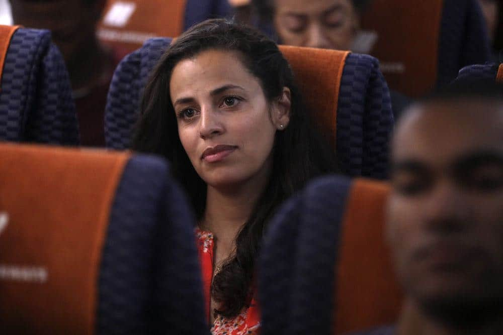 "MANIFEST -- ""Connecting Flights"" Episode 105 -- Pictured: Athena Karkanis as Grace Stone -- (Photo by: Craig Blankenhorn/NBC/Warner Brothers)"