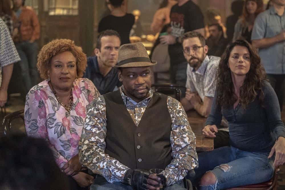 """In the Blood"" - Pride's father, Cassius Pride (Stacy Keach), is wrapped up in an NCIS case involving a notorious unsolved casino heist from several years ago. Also, Pride meets a family member he never knew existed, on the milestone 100th episode of NCIS: NEW ORLEANS, Tuesday, Oct. 23 (10:00-11:00 PM, ET/PT) on the CBS Television Network. Pictured L-R: CCH Pounder as Dr. Loretta Wade, Lucas Black as Special Agent Christopher LaSalle, Daryl Chill Mitchell as Patton Plame, Rob Kerkovich as Forensic Scientist Sebastian Lund, and Vanessa Ferlito as FBI Special Agent Tammy Gregorio Photo: Skip Bolen/CBS ©2018 CBS Broadcasting, Inc. All Rights Reserved"