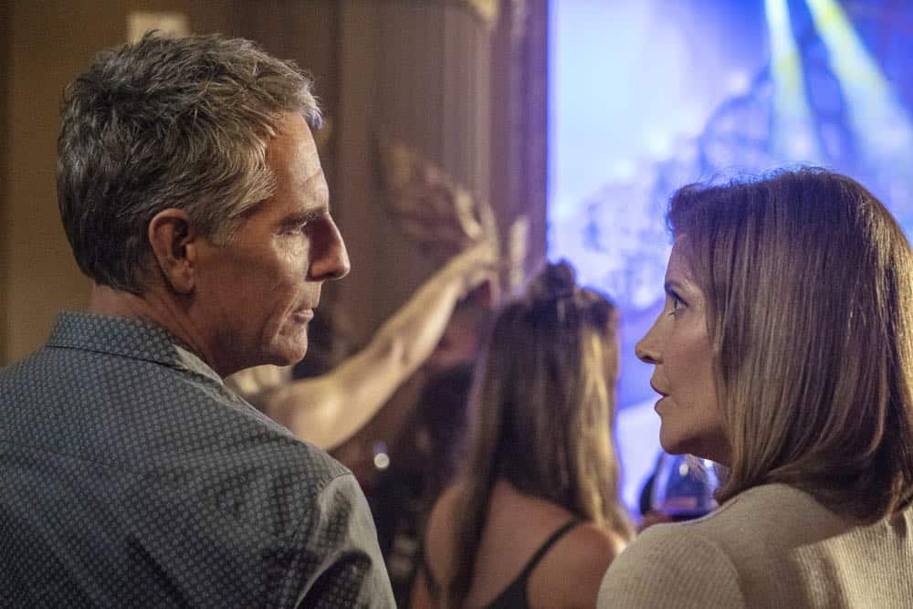"""In the Blood"" - Pride's father, Cassius Pride (Stacy Keach), is wrapped up in an NCIS case involving a notorious unsolved casino heist from several years ago. Also, Pride meets a family member he never knew existed, on the milestone 100th episode of NCIS: NEW ORLEANS, Tuesday, Oct. 23 (10:00-11:00 PM, ET/PT) on the CBS Television Network. Pictured L-R: Scott Bakula as Special Agent Dwayne Pride and Melinda McGraw as Gina Powell Photo: Skip Bolen/CBS ©2018 CBS Broadcasting, Inc. All Rights Reserved"