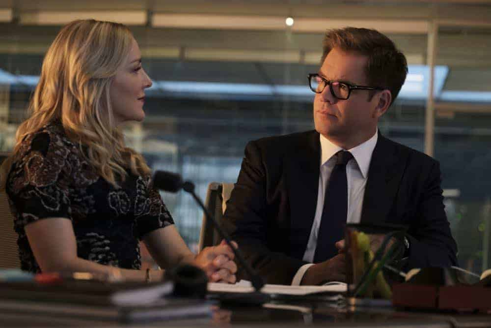 """The Missing Piece"" - Bull joins the defense team of a seemingly unwinnable case when a man he believes is innocent, is put on trial for murder after his submission to a DNA database links him to a homicide. Also, while Bull and Benny work toward selecting jurors who are predisposed to trust their gut instinct rather than incontrovertible evidence, Danny and Mackenzie research whether their client's DNA could have been contaminated, on BULL, Monday, Oct. 22 (10:00-11:00 PM, ET/PT) on the CBS Television Network. Pictured L-R: Geneva Carr as Marissa Morgan and Michael Weatherly as Dr. Jason Bull Photo: Jojo Whilden/CBS ©2018 CBS Broadcasting, Inc. All Rights Reserved"