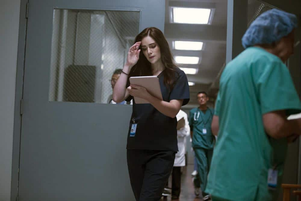 "NEW AMSTERDAM -- ""Cavitation"" Episode 105 -- Pictured: Janet Montgomery as Dr. Lauren Bloom -- (Photo by: Francisco Roman/NBC)"