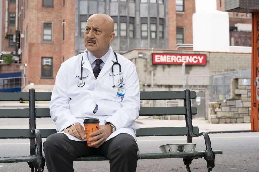 "NEW AMSTERDAM -- ""Cavitation"" Episode 105 -- Pictured: Anupam Kher as Dr. Vijay Kapoor -- (Photo by: Virginia Sherwood/NBC)"