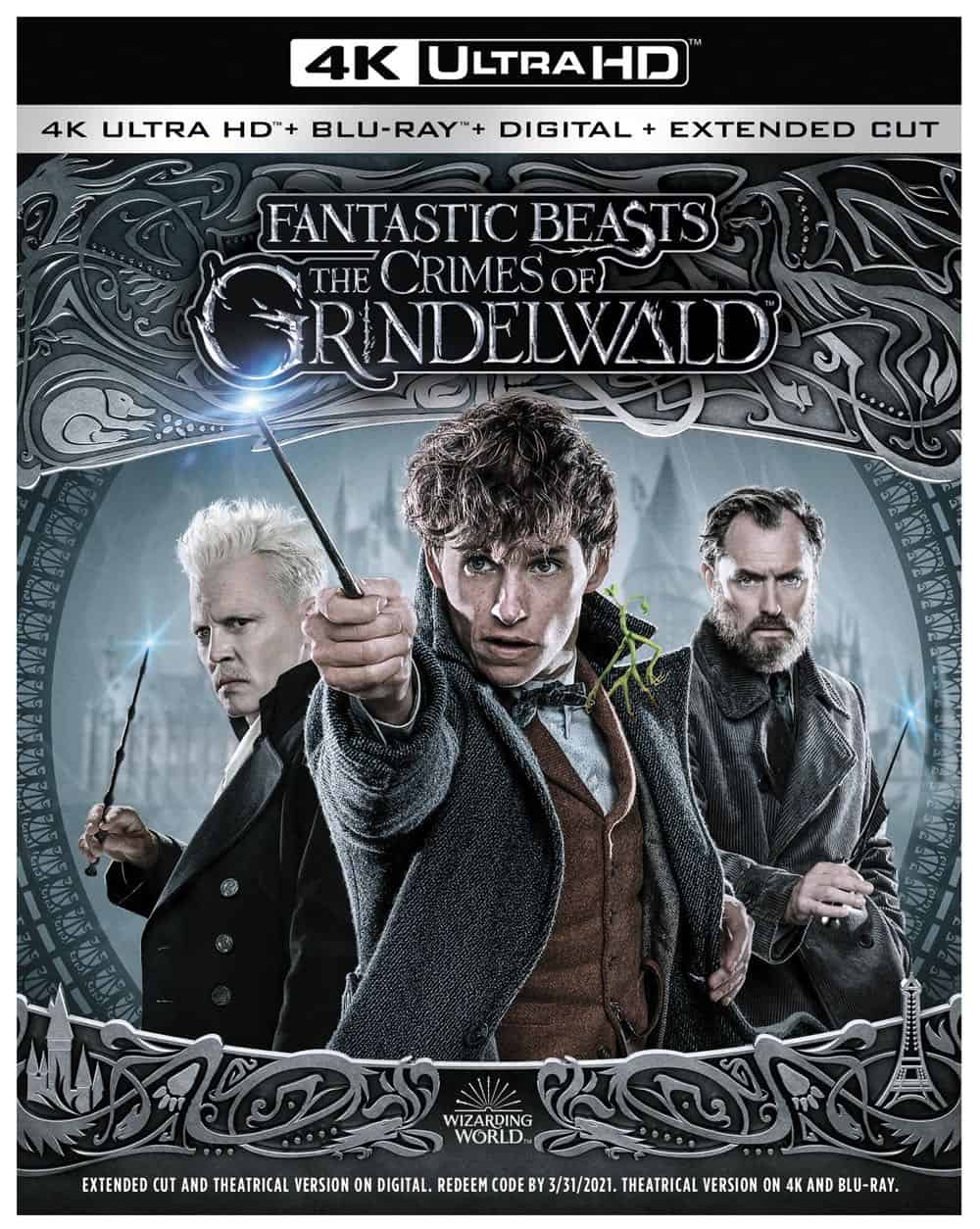 Fantastic Beasts The Crimes of Grindelwald 4K Bluray DVD Digital 1