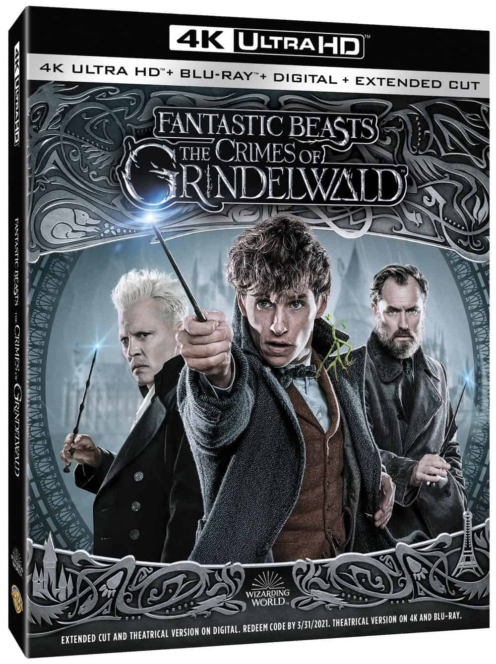 Fantastic Beasts The Crimes of Grindelwald 4K Bluray DVD Digital 2