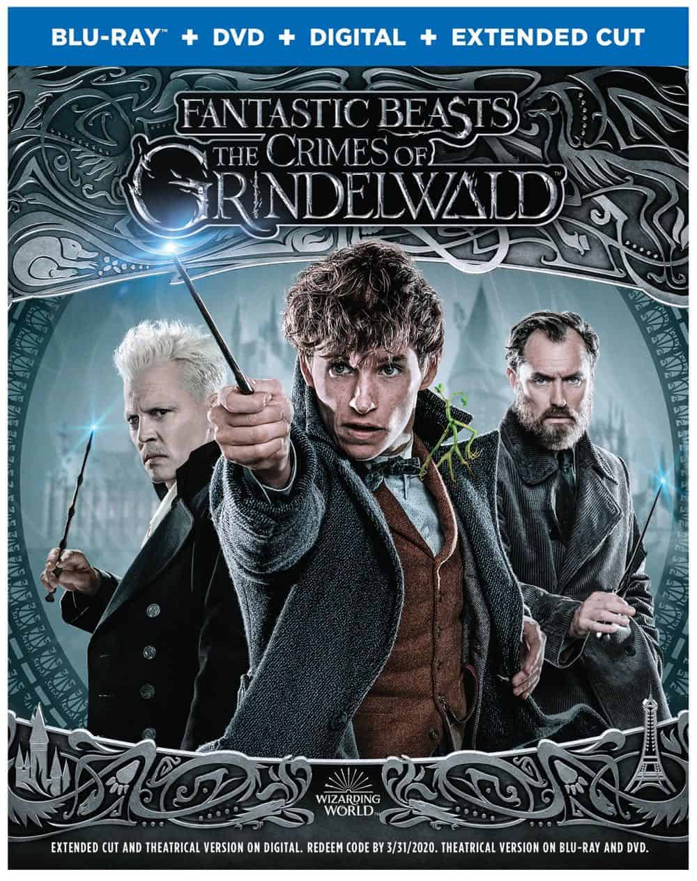 Fantastic Beasts The Crimes of Grindelwald 4K Bluray DVD Digital 3