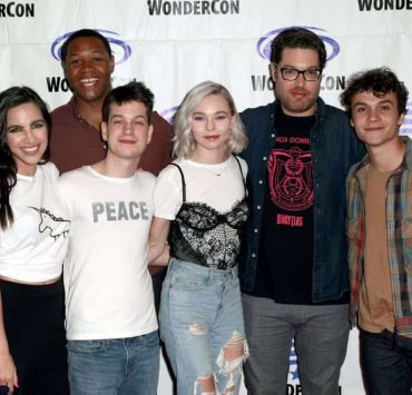 ANAHEIM, CALIFORNIA - MARCH 30: (L-R) María Gabriela de Faría, Luke Tennie, Liam James, Taylor Hickson, Miles Orion Feldsott, and Benjamin Wadsworth attend the 'Deadly Class' press line during WonderCon 2019 at Anaheim Convention Center on March 30, 2019 in Anaheim, California. (Photo by Paul Butterfield/Getty Images)