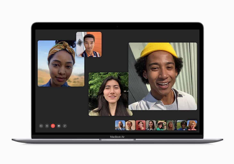 Apple macbook air and macbook pro update facetime screen 070919