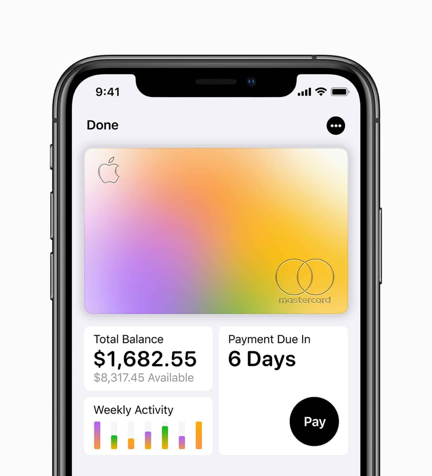 Apple Card iPhoneXS Total Balance 032519