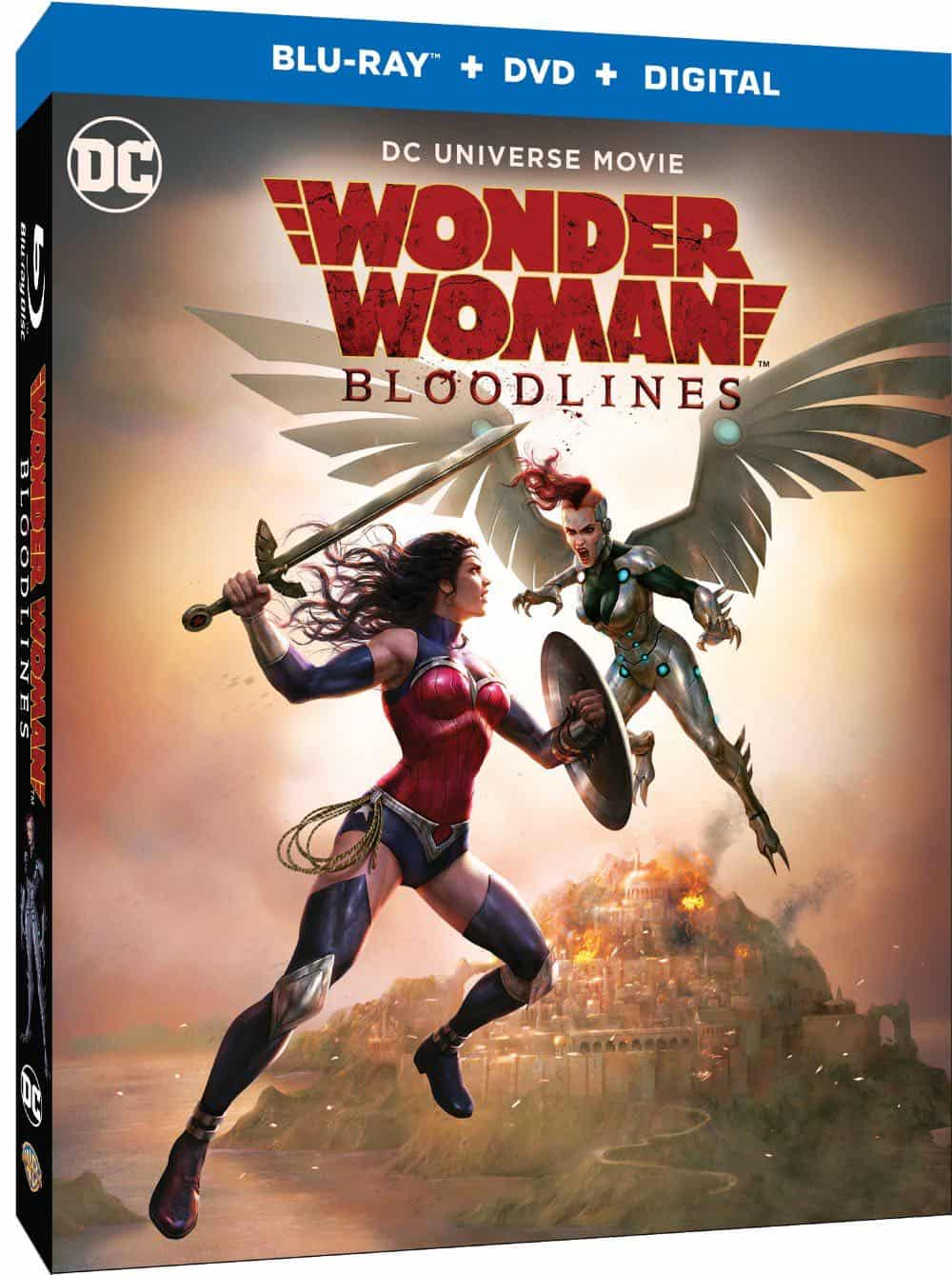 Wonder Woman Bloodlines Blu ray Cover