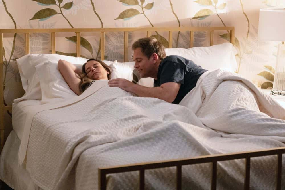 """Labor Days"" - As Bull prepares for impending fatherhood at home, his work at TAC suffers without his top attorney, Benny, who quit the company in reaction to Bull's fling with his sister, Isabella (Yara Martinez), at their father's funeral. Meanwhile, the team faces a difficult time in court without Benny as they mount a defense for a young bartender on trial for involuntary manslaughter following an inebriated customer's mass killing, on BULL, Monday, Sept. 23 (10:00-11:00 PM, ET/PT) on the CBS Television Network. Pictured L-R: Yara Martinez as Isabella Col--n and Michael Weatherly as Dr. Jason Bull Photo: David M. Russell/CBS ©2019 CBS Broadcasting Inc. All Rights Reserved."