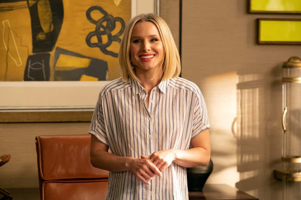 "THE GOOD PLACE -- ""A Girl From Arizona"" Episode 401/402 -- Pictured: Kristen Bell as Eleanor -- (Photo by: Colleen Hayes/NBC)"