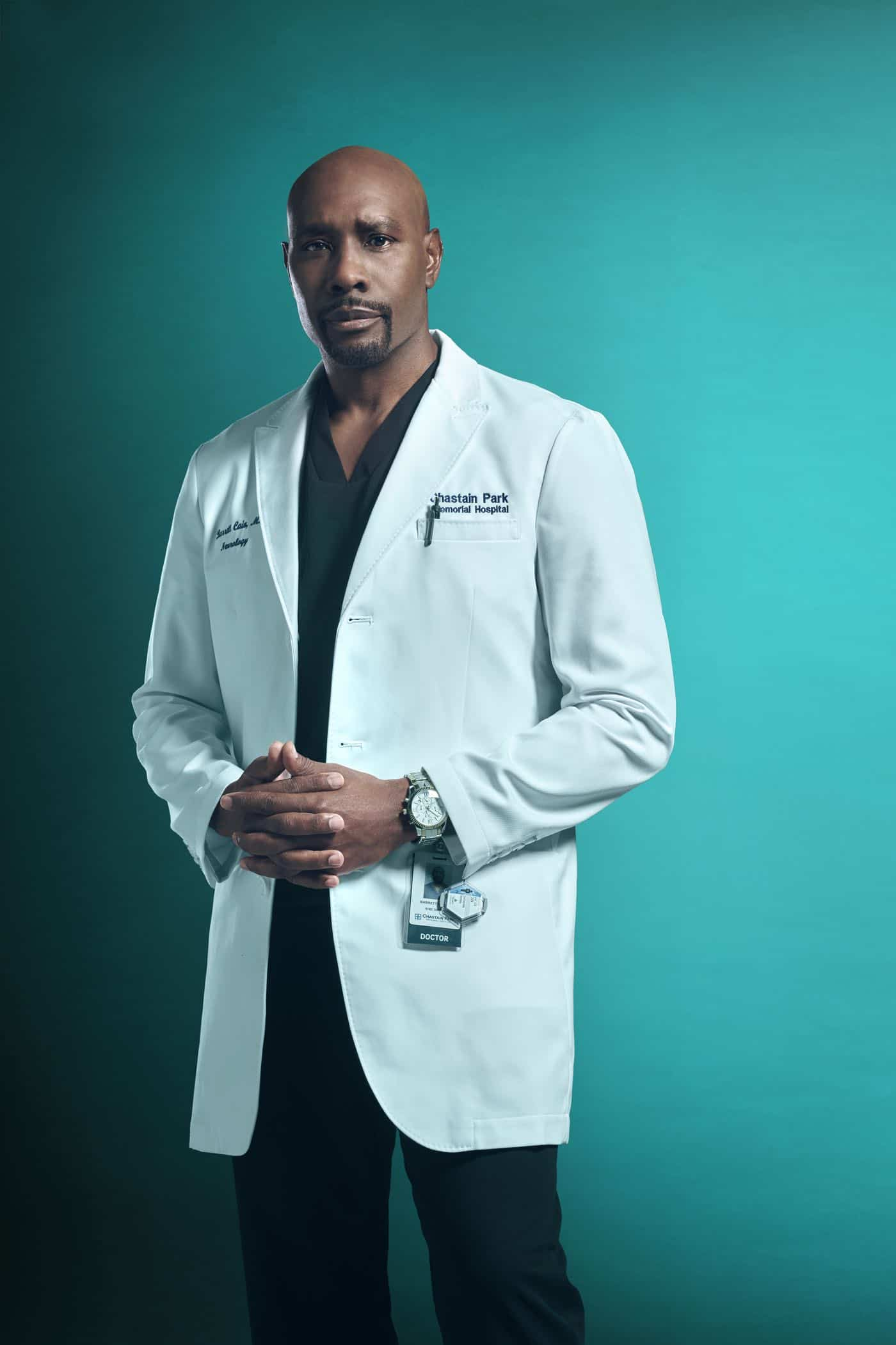 THE RESIDENT:   Morris Chestnut as Dr. Barrett Cain in Season Three of THE RESIDENT premiering Tuesday (8:00-9:00 PM ET/PT) on FOX. ©2019 Fox Media LLC. Cr: Miranda Penn Turin/FOX