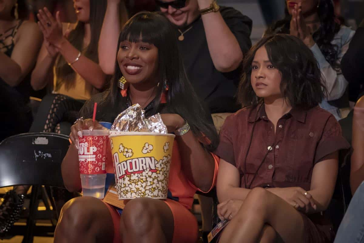 "EMPIRE: L-R: Ta'Rhonda Jones and Rhyon Nicole Brown in the ""What Is Love"" season premiere episode of EMPIRE airing Tuesday, Sept. 24 (9:00-10:00 PM ET/PT) on FOX. ©2019 Fox Broadcasting Co. All Rights Reserved. CR: Chuck Hodes/FOX."
